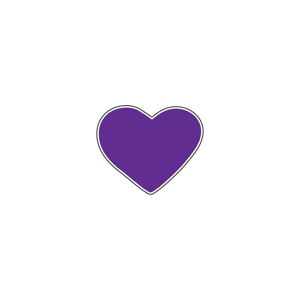 Valentijnsdag Hart Paars Stickers