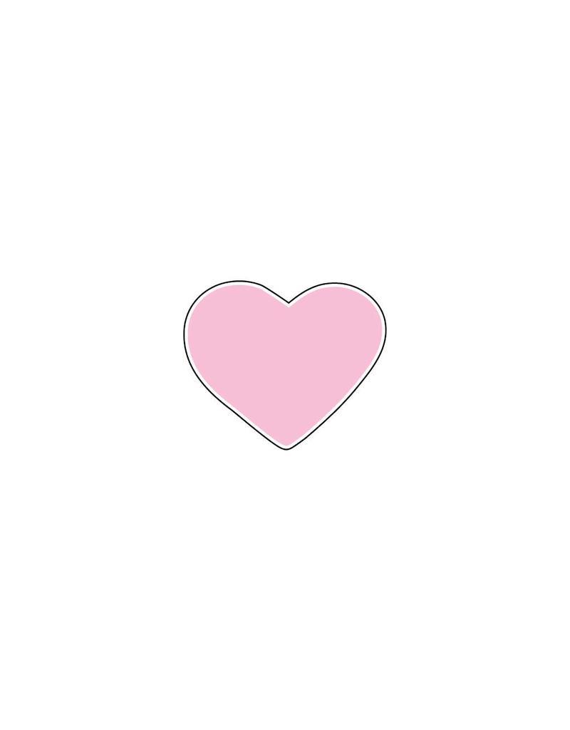 Autocollant Saint-Valentin cœur rose