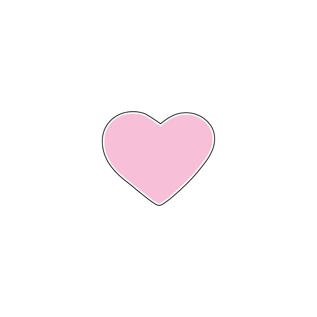 Valentine's day Heart Pink Stickers
