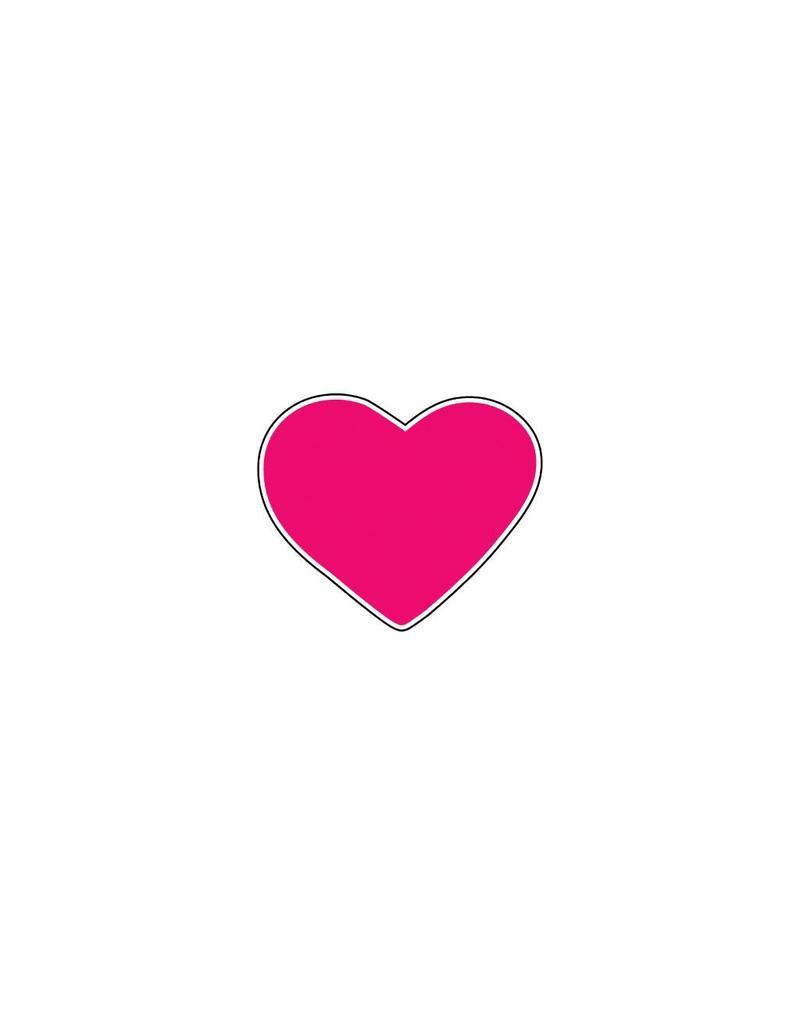 Autocollant Saint-Valentin cœur Fuchsia