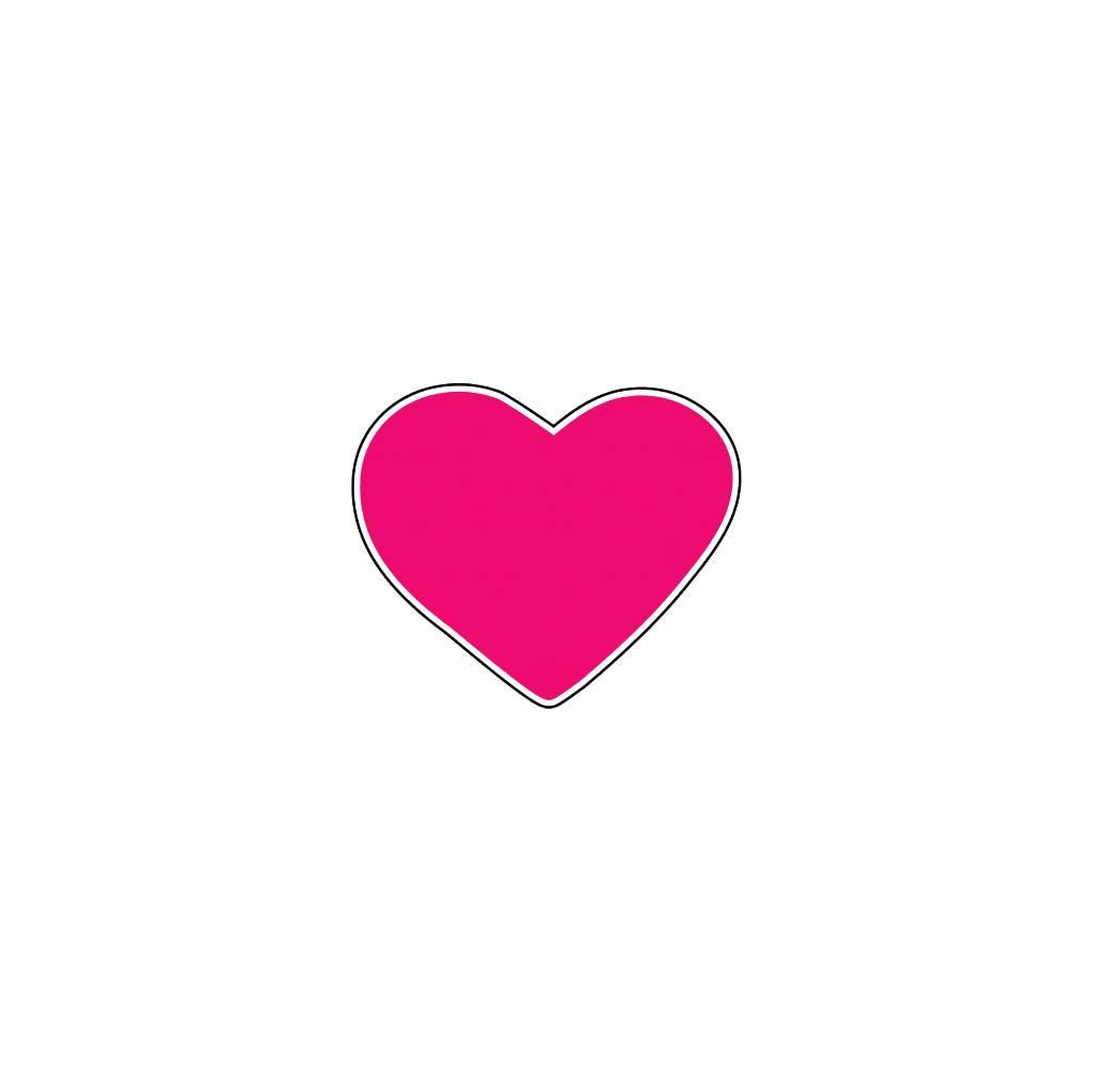 Valentine's day Heart Fuchsia Stickers