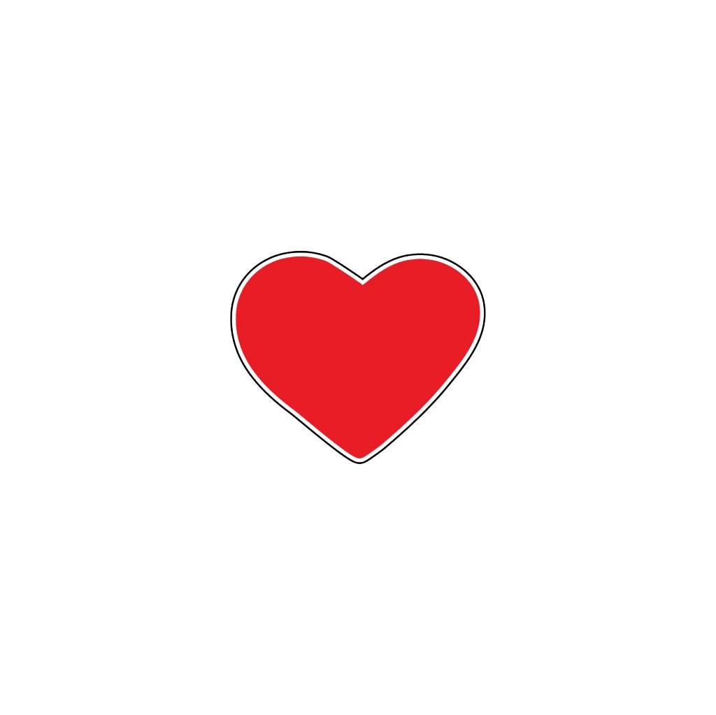 Autocollant Saint-Valentin cœur rouge