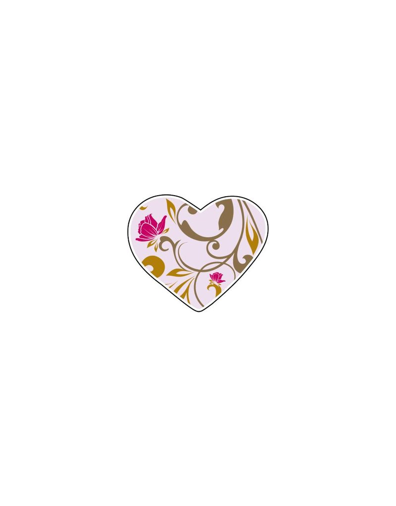 Autocollant Saint-Valentin cœur Pastel 4