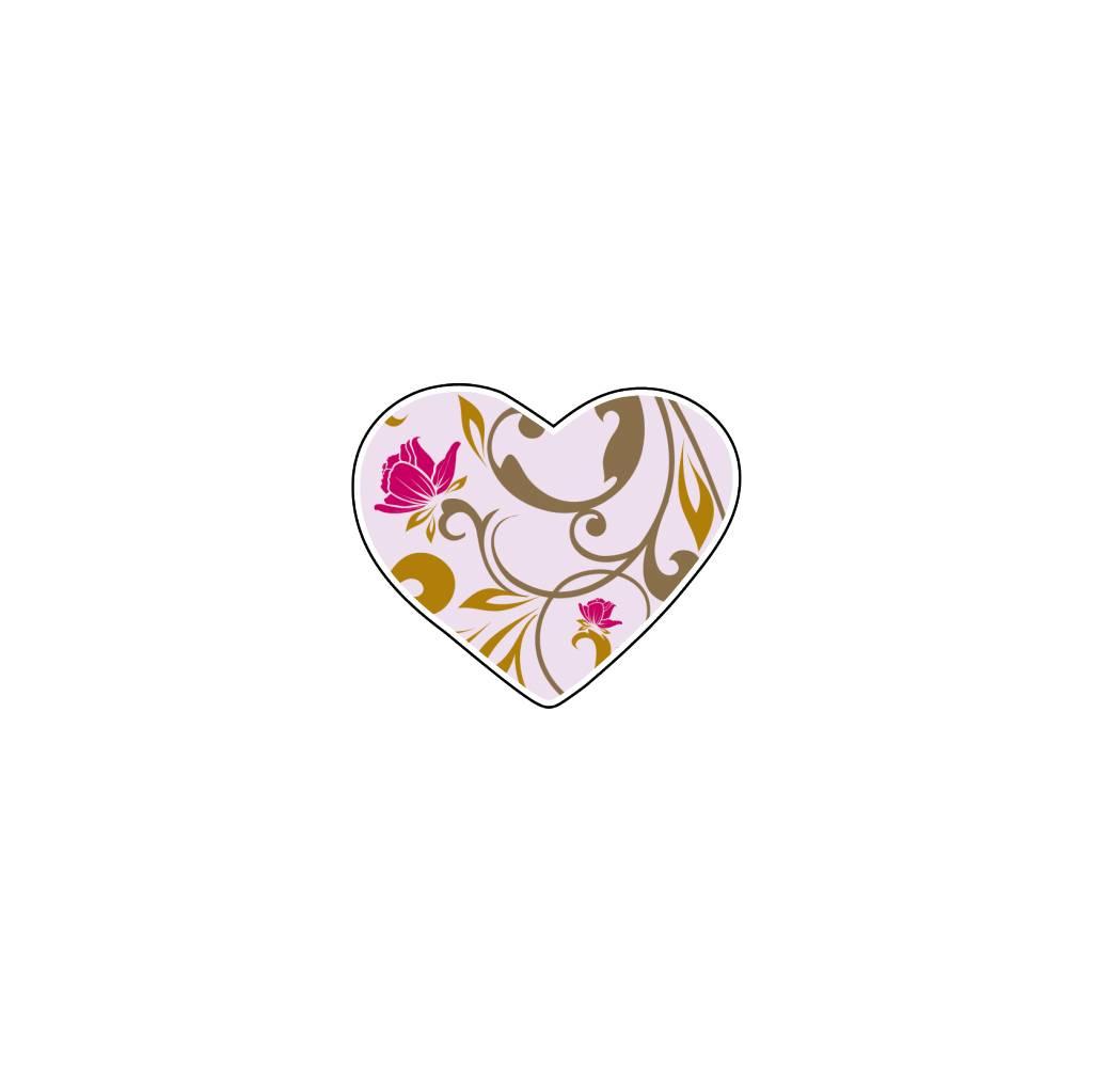 Valentijnsdag Hart Pastel 4 Stickers