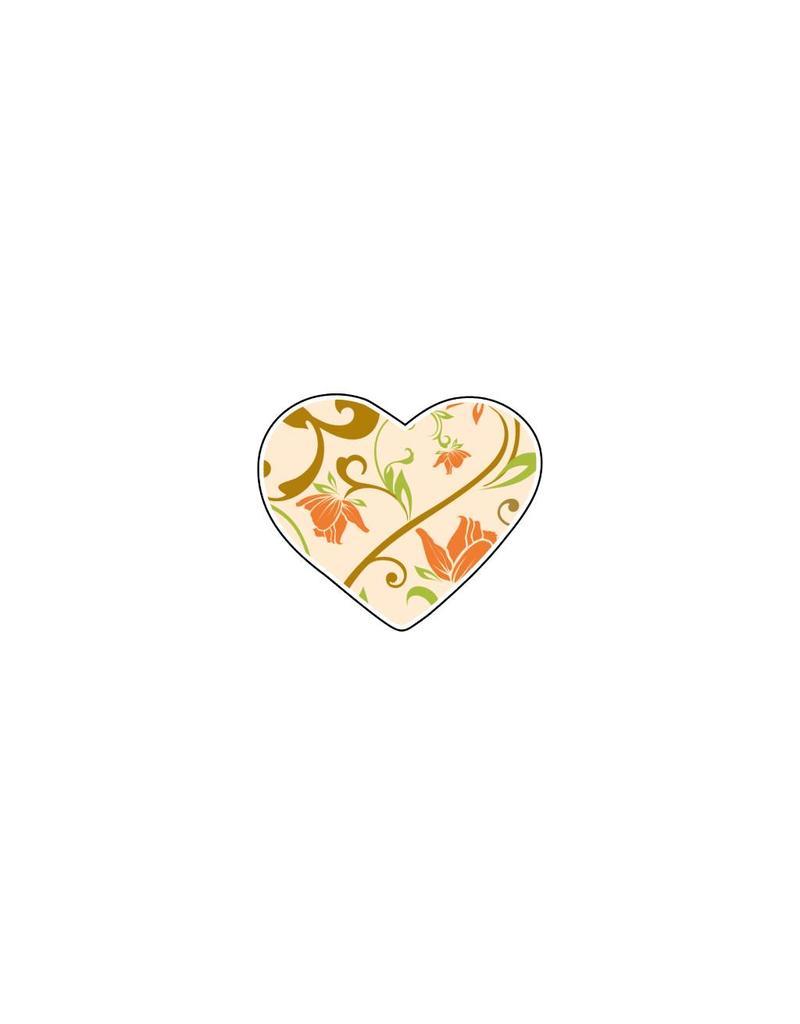 Valentine's day Heart Pastel 2 Stickers