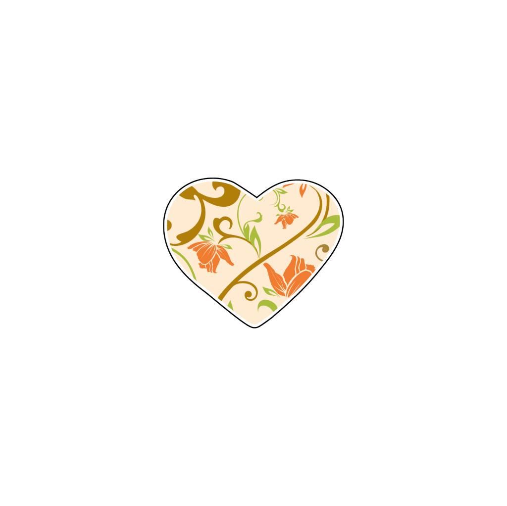 Autocollant Saint-Valentin cœur Pastel 2