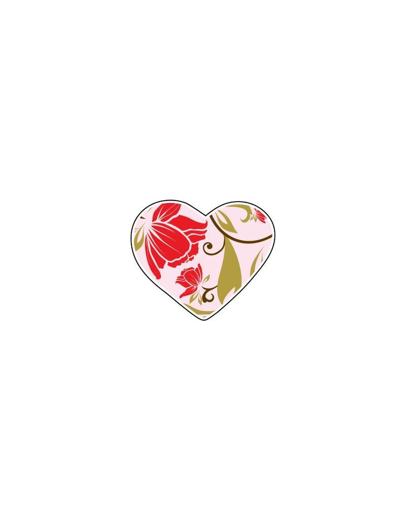 Autocollant Saint-Valentin cœur Pastel 1
