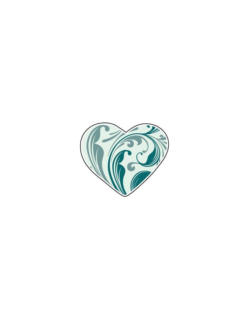 Valentijnsdag Hart Blues 4 Stickers