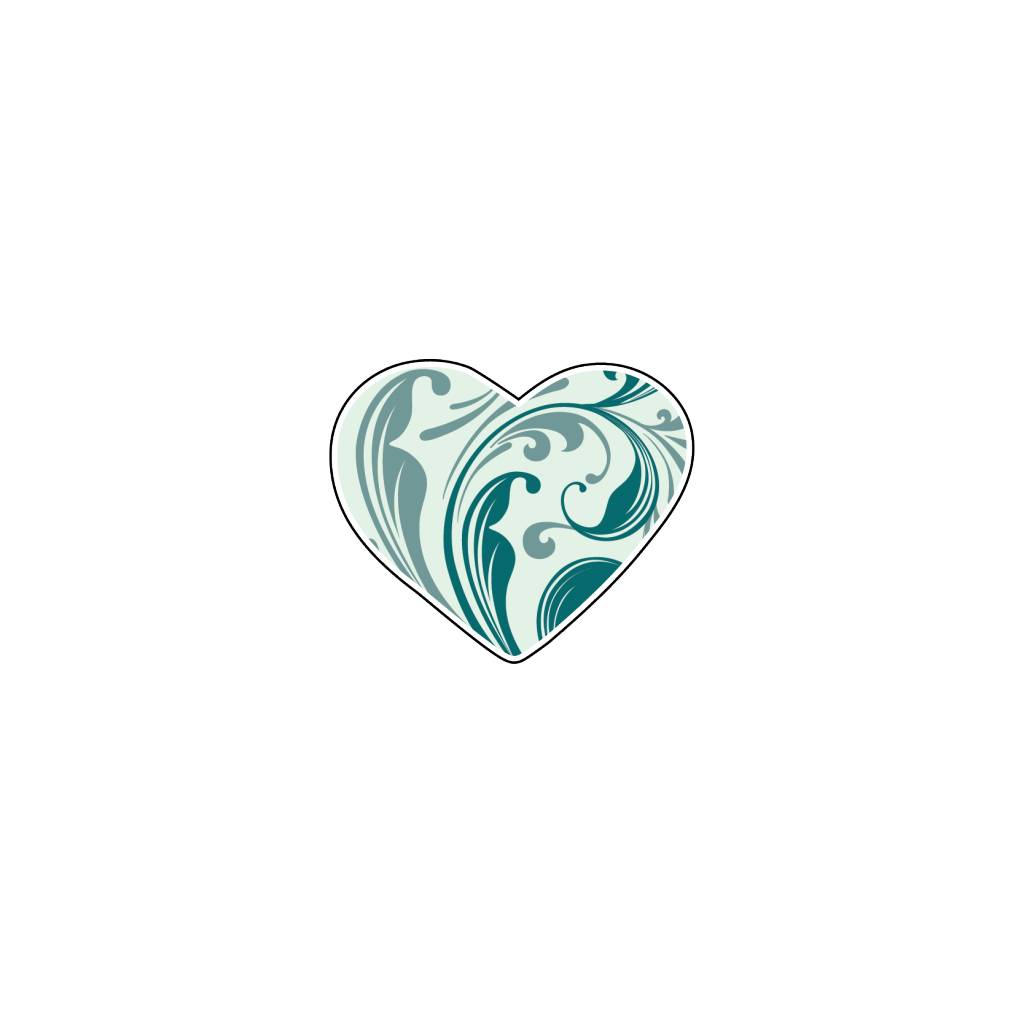 Valentine's day Heart Blues 4 Stickers
