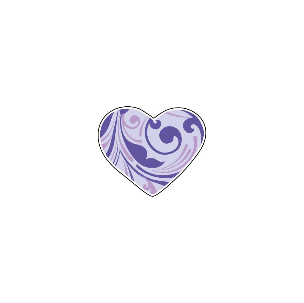 Valentine's day Heart Blues 3 Stickers