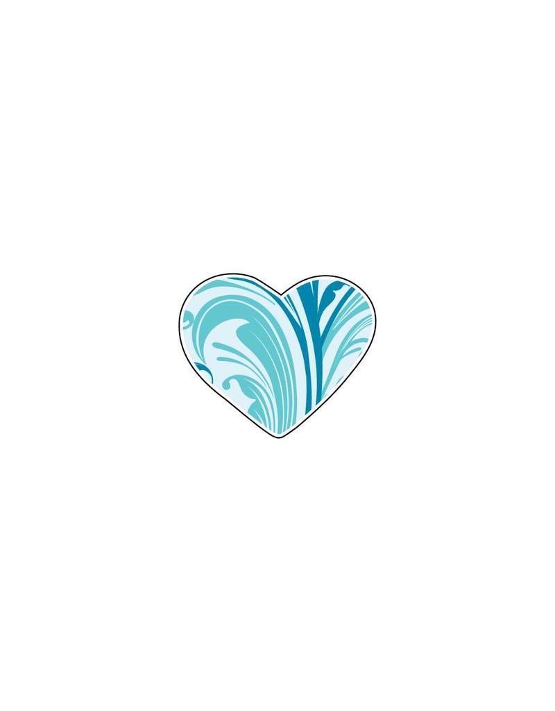 Autocollant Saint-Valentin cœur Blues 2