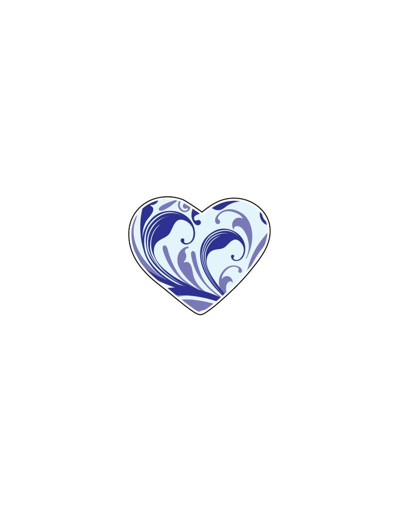 Valentine's day Heart Blues 1 Stickers