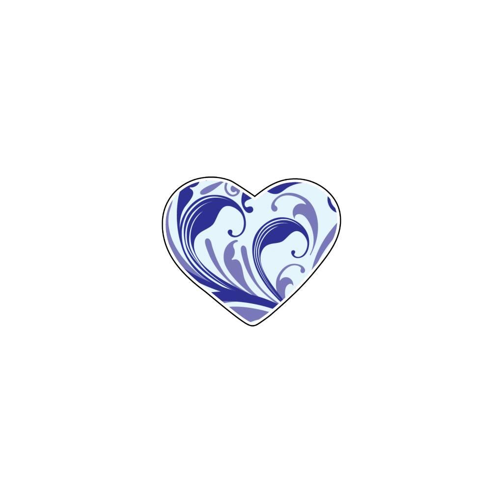 Autocollant Saint-Valentin cœur Blues 1