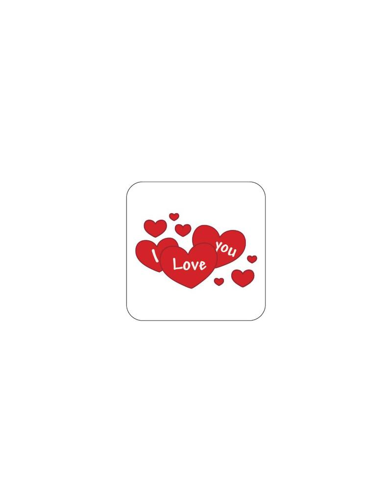 Valentine's day Red 4 Stickers