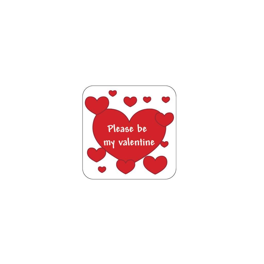 Valentine's day Red 3 Stickers