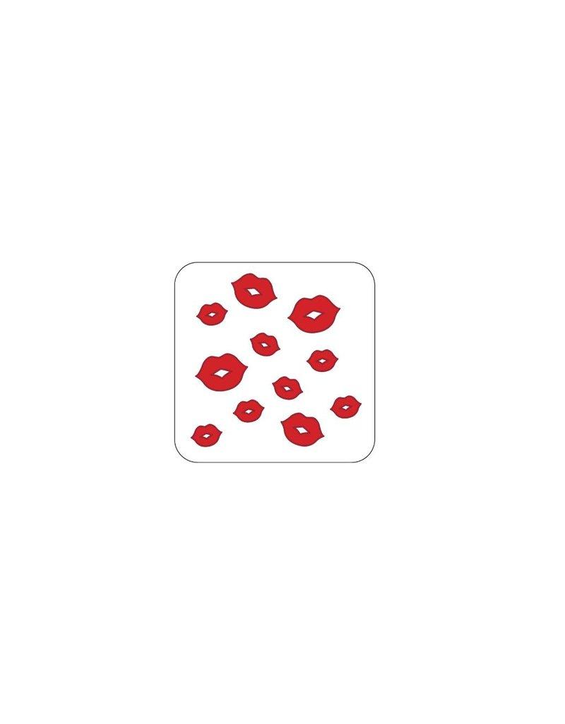 Autocollant Saint-Valentin rouge 1