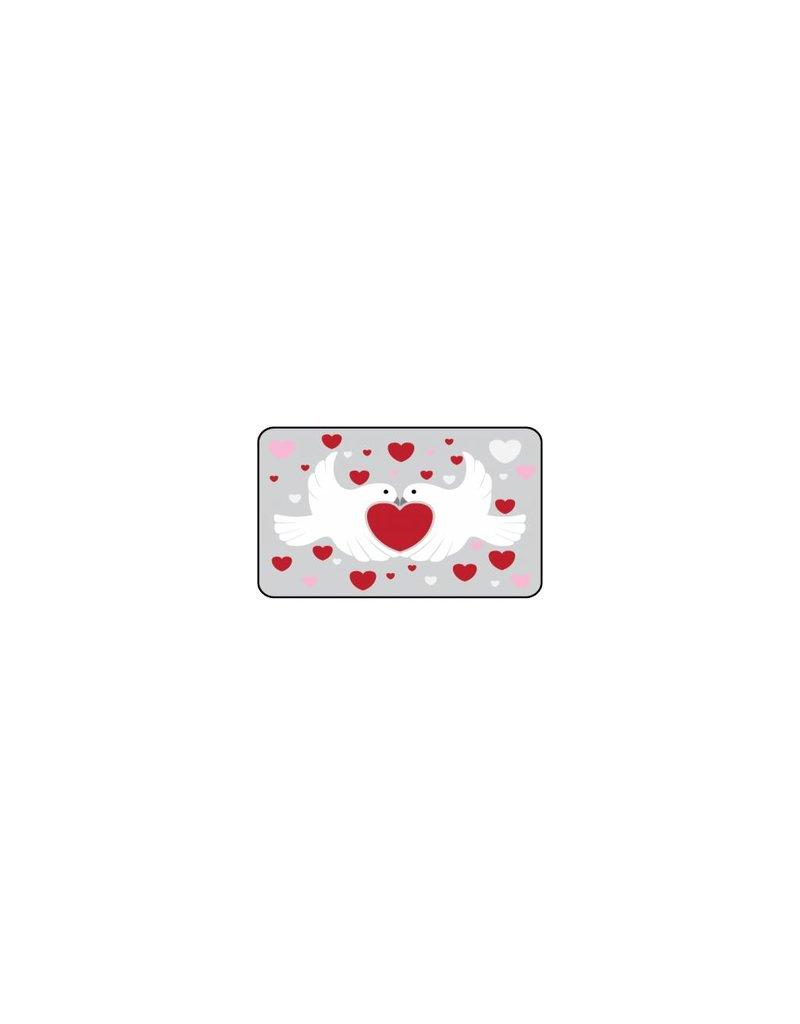 Valentijnsdag Tortelduifjes Stickers