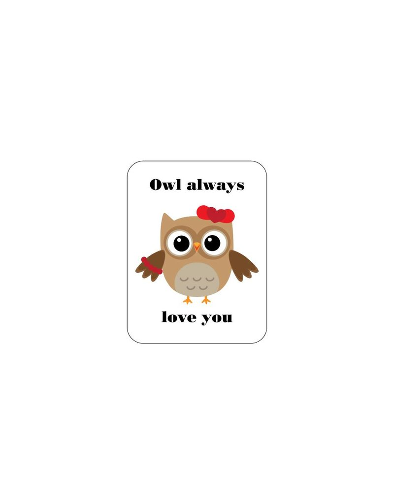 Valentine's day Love Owl 2 Stickers