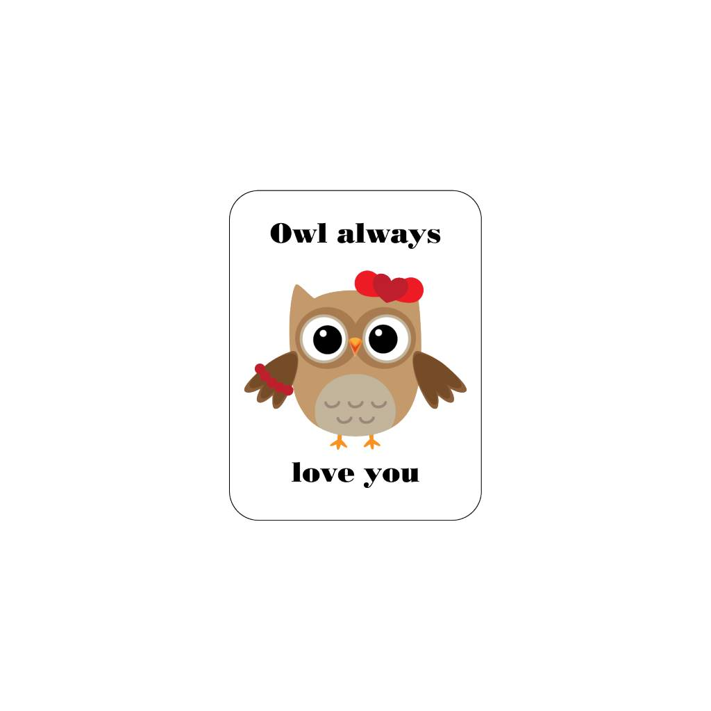 Valentine's day Love Owl 2 Stickers
