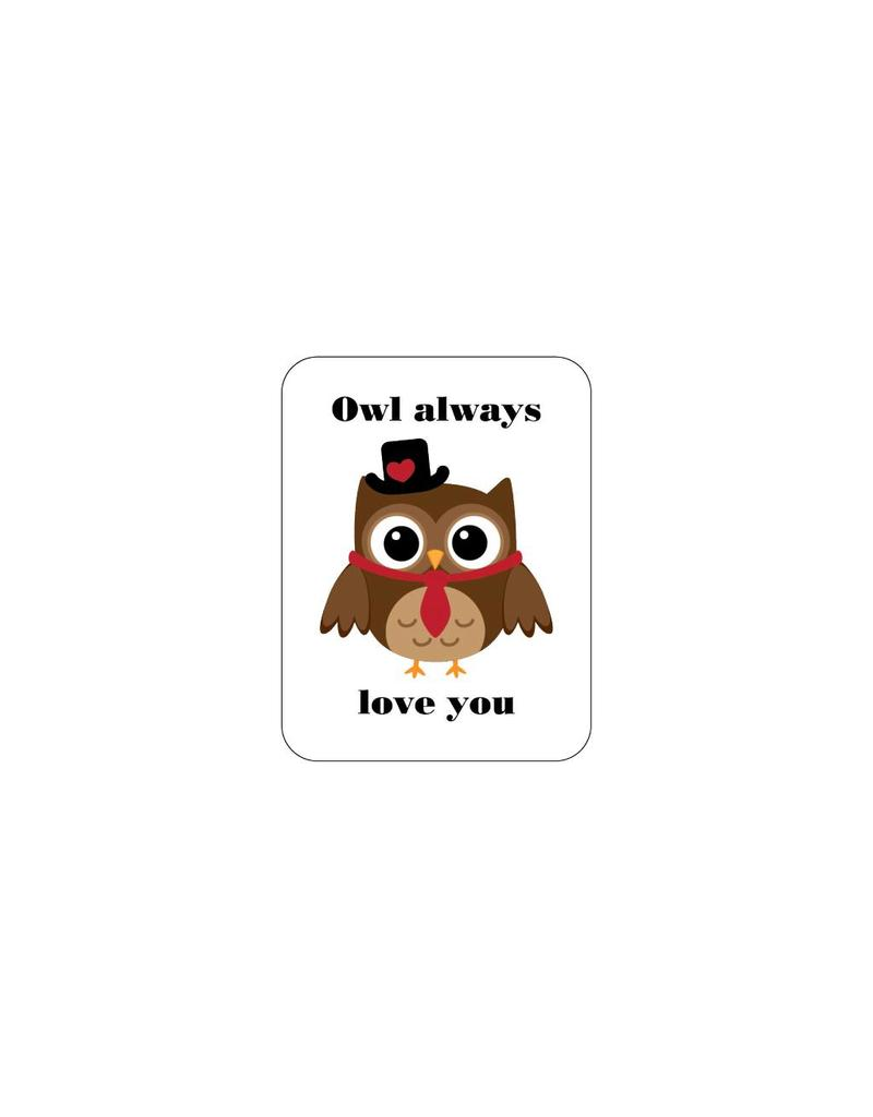 Valentijnsdag Love Owl 1 Stickers