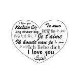 Autocollant Saint-Valentin Worldwide Love