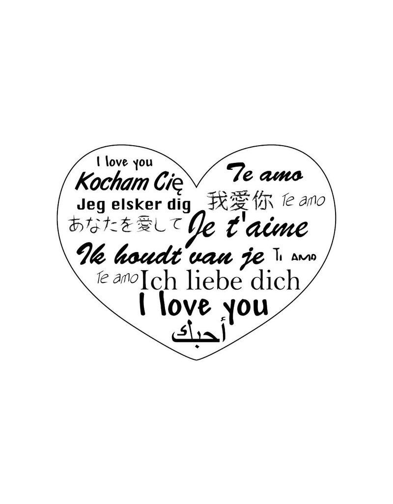 Valentine's day Worldwide Love Stickers