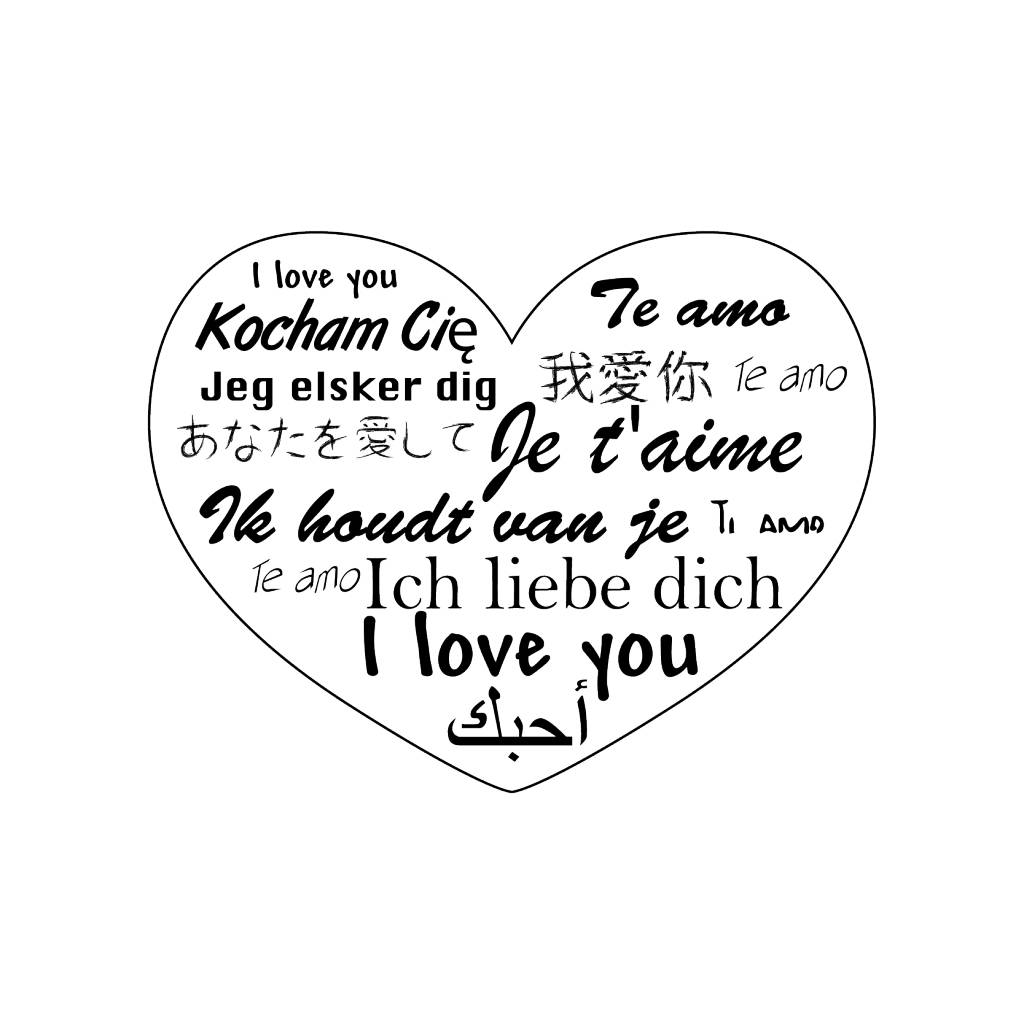 Valentijnsdag Worldwide Love Stickers