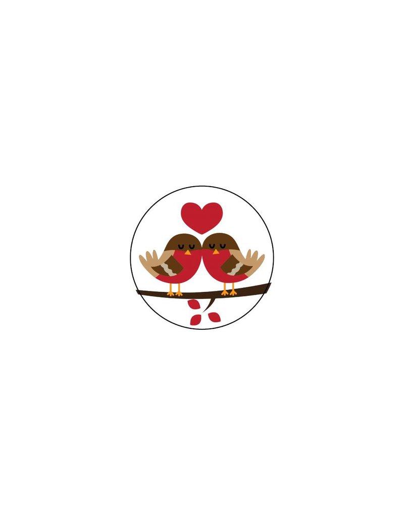 Autocollant Saint-Valentin Rouge-gorge 4