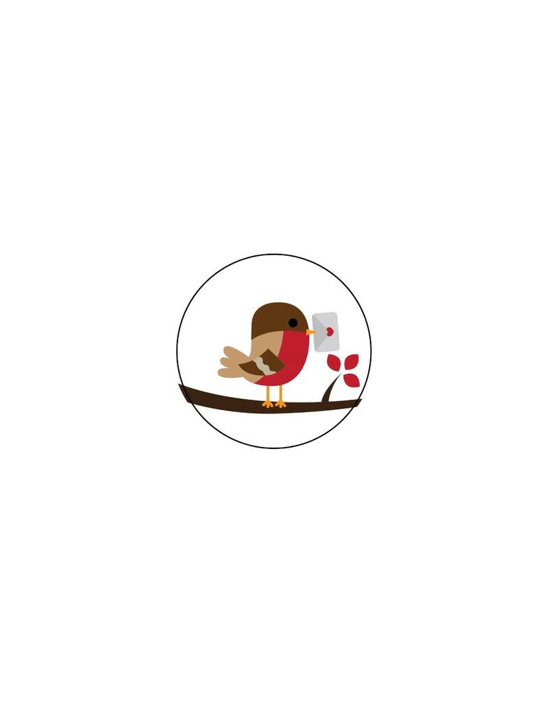 Valentijnsdag Roodborstje 3 Stickers
