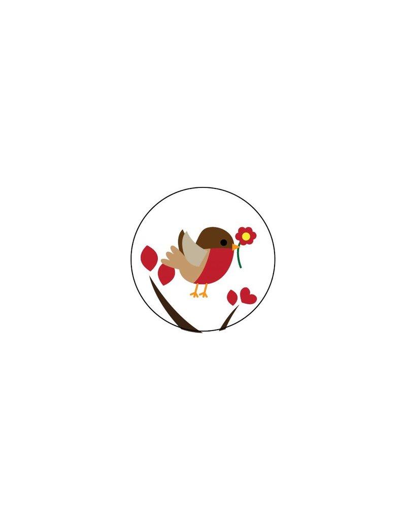 Valentijnsdag Roodborstje 1 Stickers