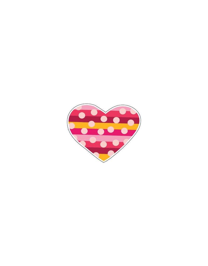 Valentijnsdag Hart Modern 5 Stickers