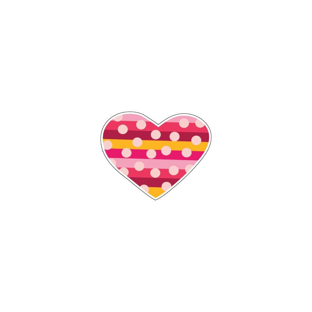 Valentine's day Heart Modern 5 Stickers