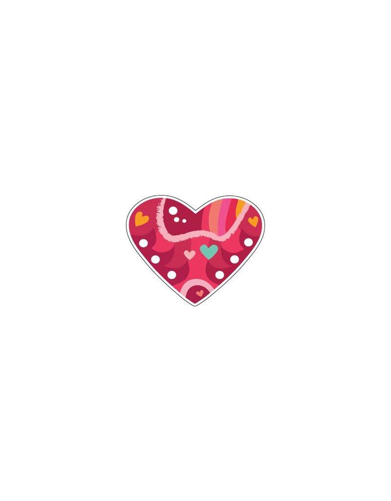Valentijnsdag Hart Modern 4 Stickers