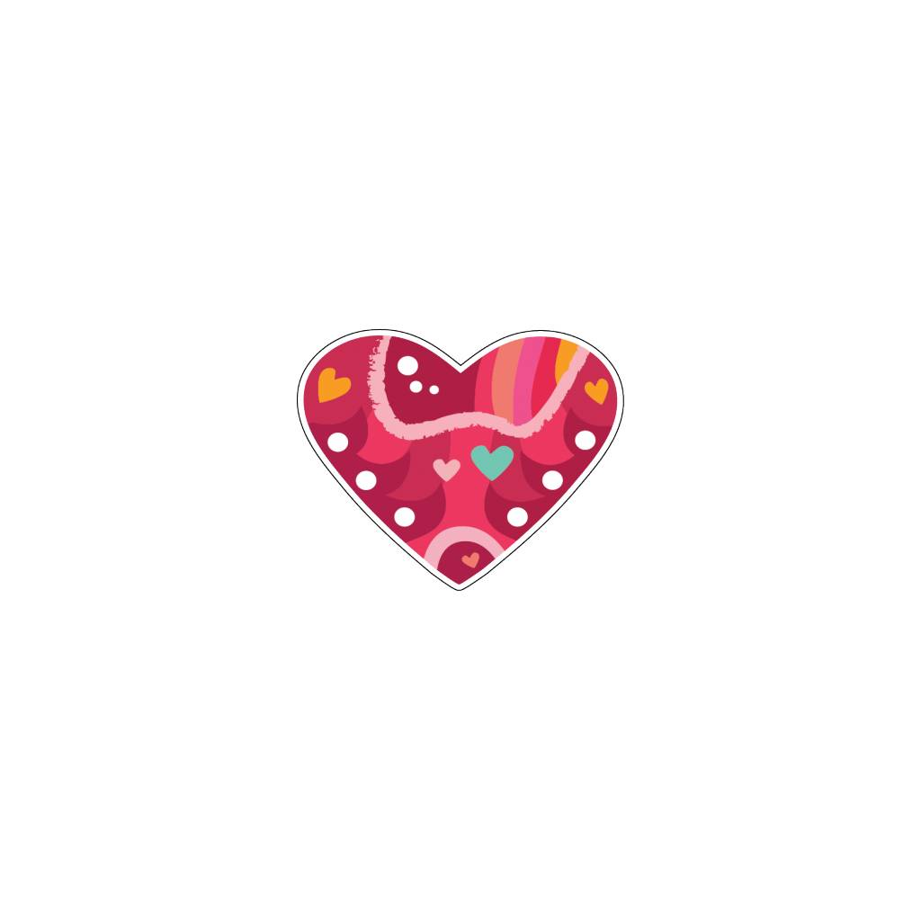Valentine's day Heart Modern 4 Stickers