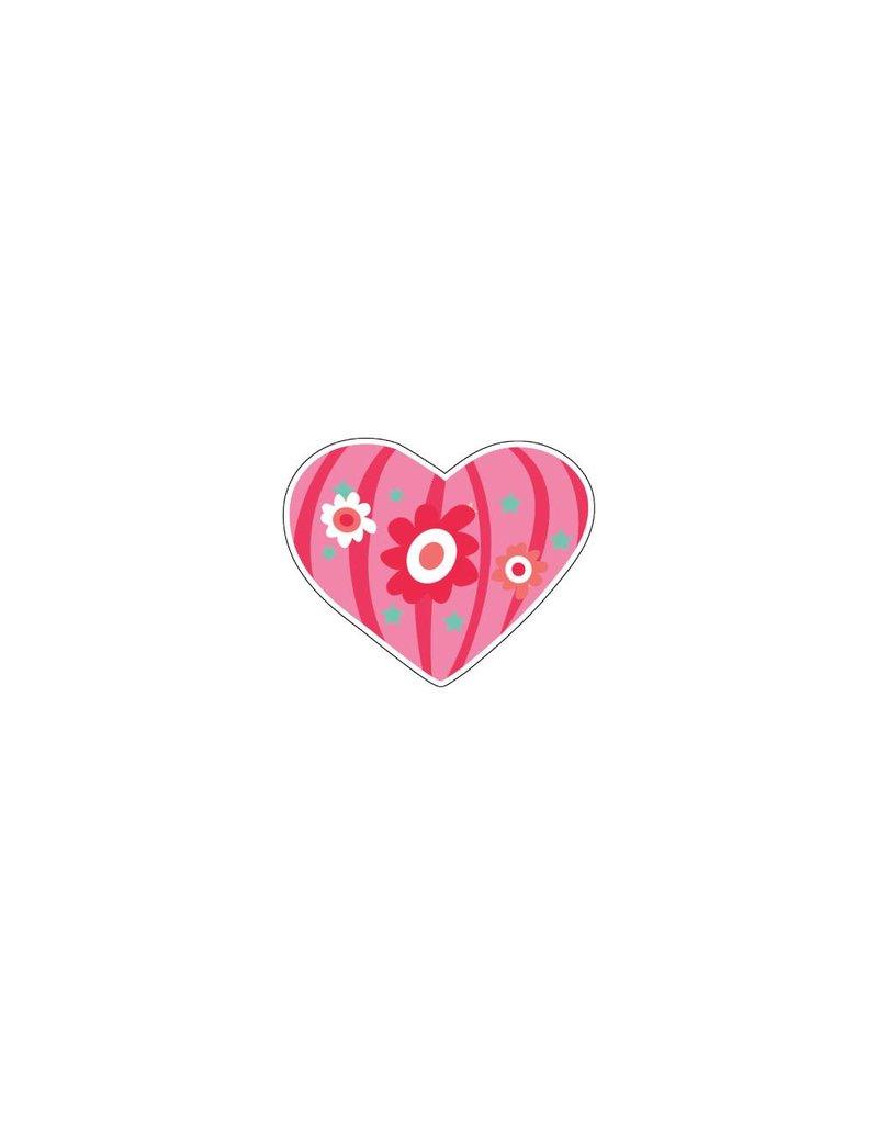 Valentijnsdag Hart Modern 3 Stickers