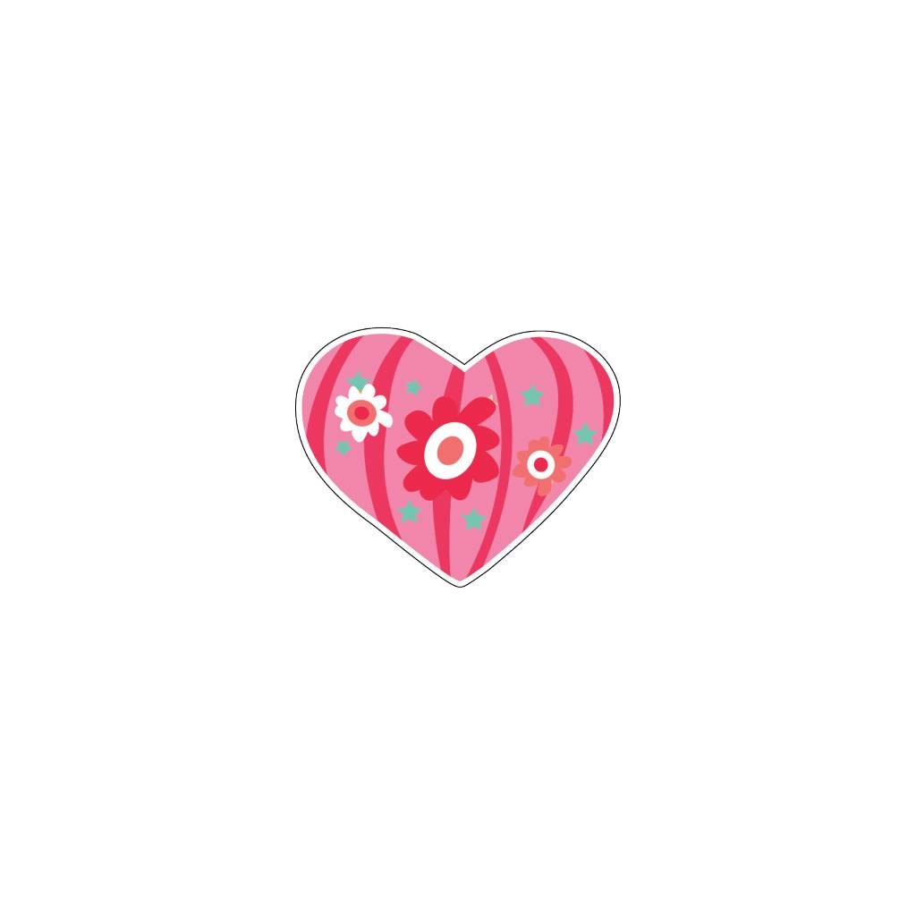 Autocollant Saint-Valentin cœur moderne 3
