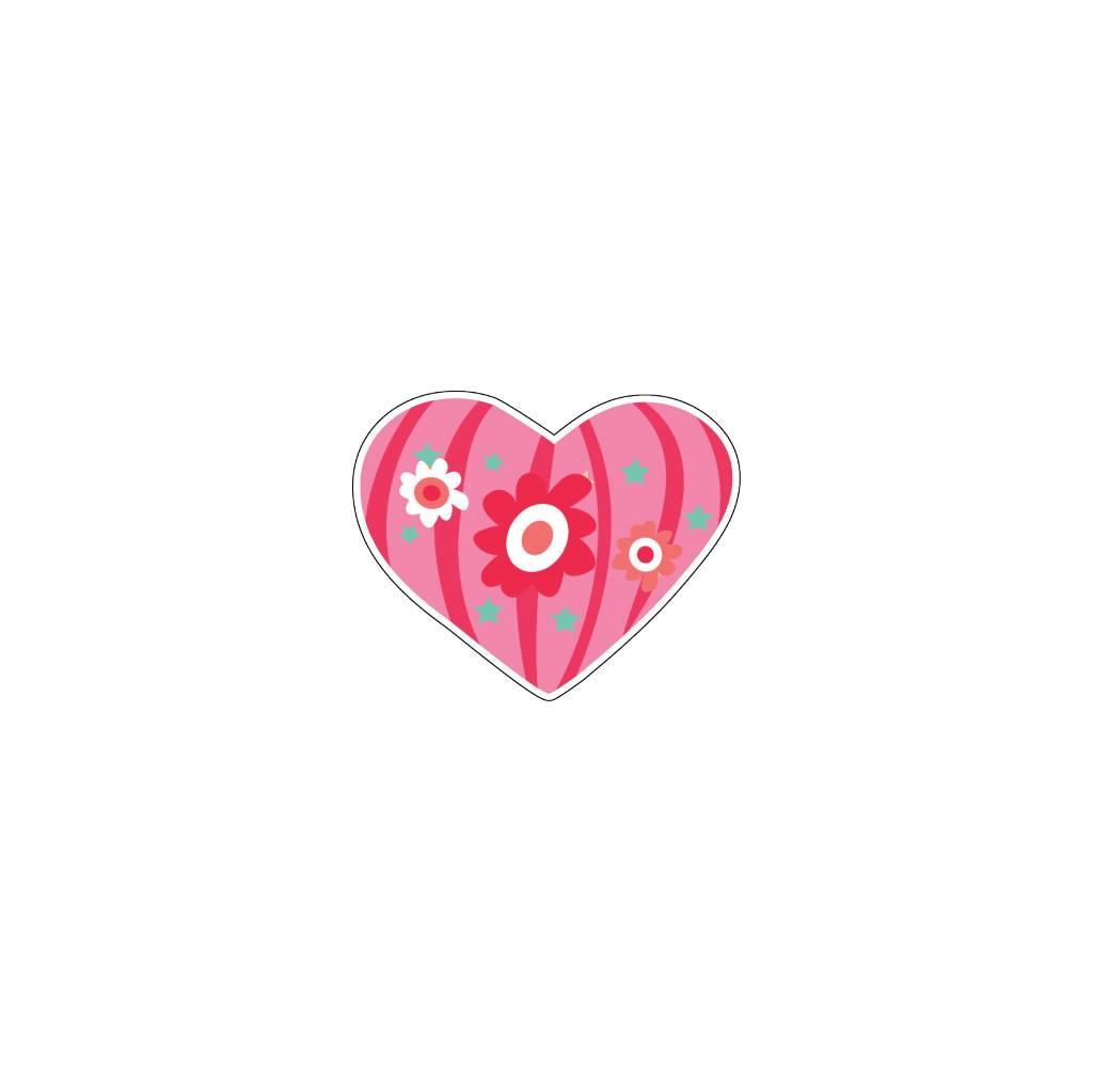 Valentine's day Heart Modern 3 Stickers