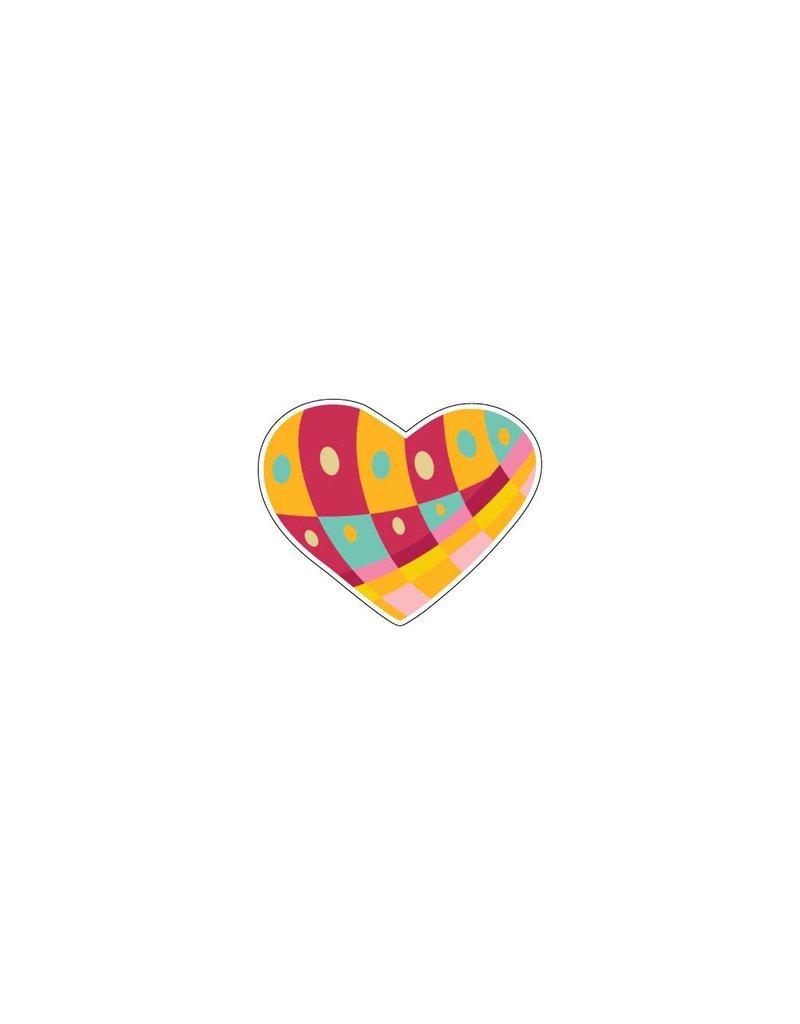 Valentijnsdag Hart Modern 2 Stickers