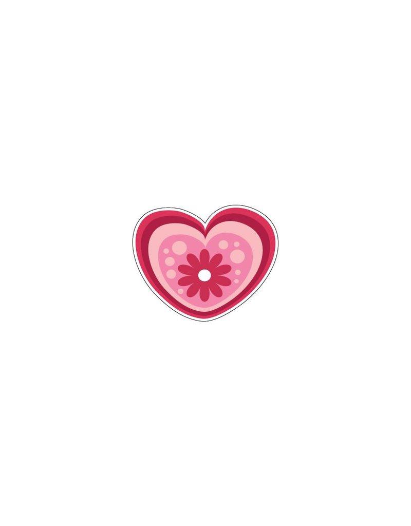 Autocollant Saint-Valentin cœur moderne 1