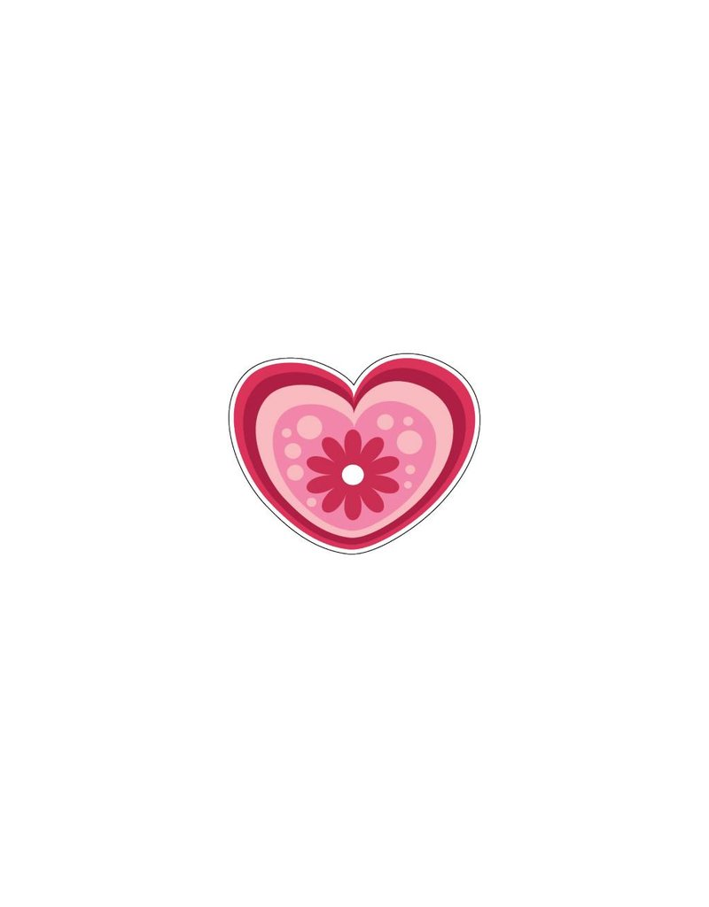 Valentine's day Heart Modern 1 Stickers