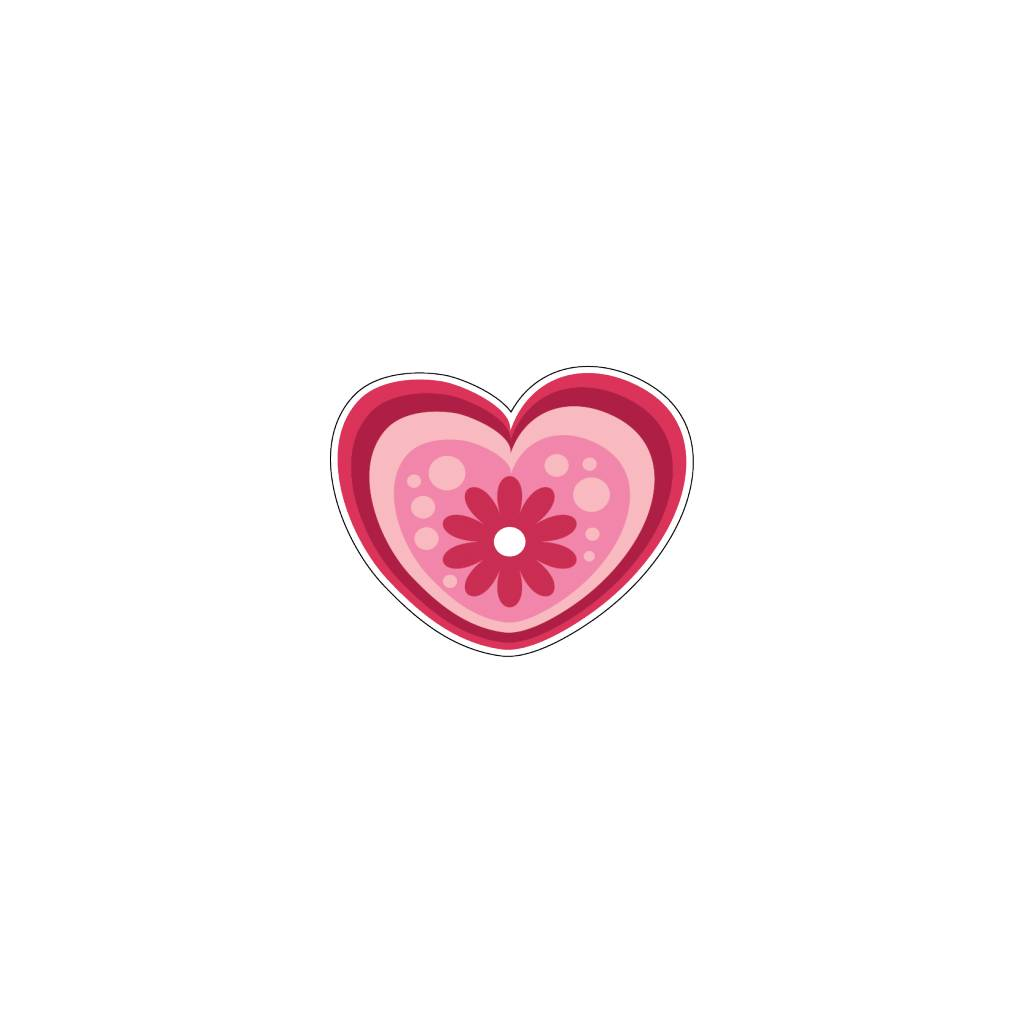 Valentijnsdag Hart Modern 1 Stickers