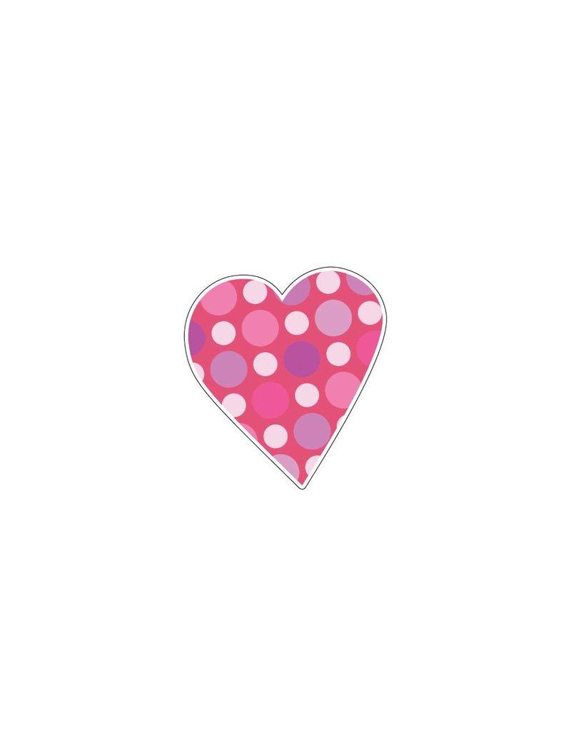 Valentine's day Heart Pink 10 Stickers
