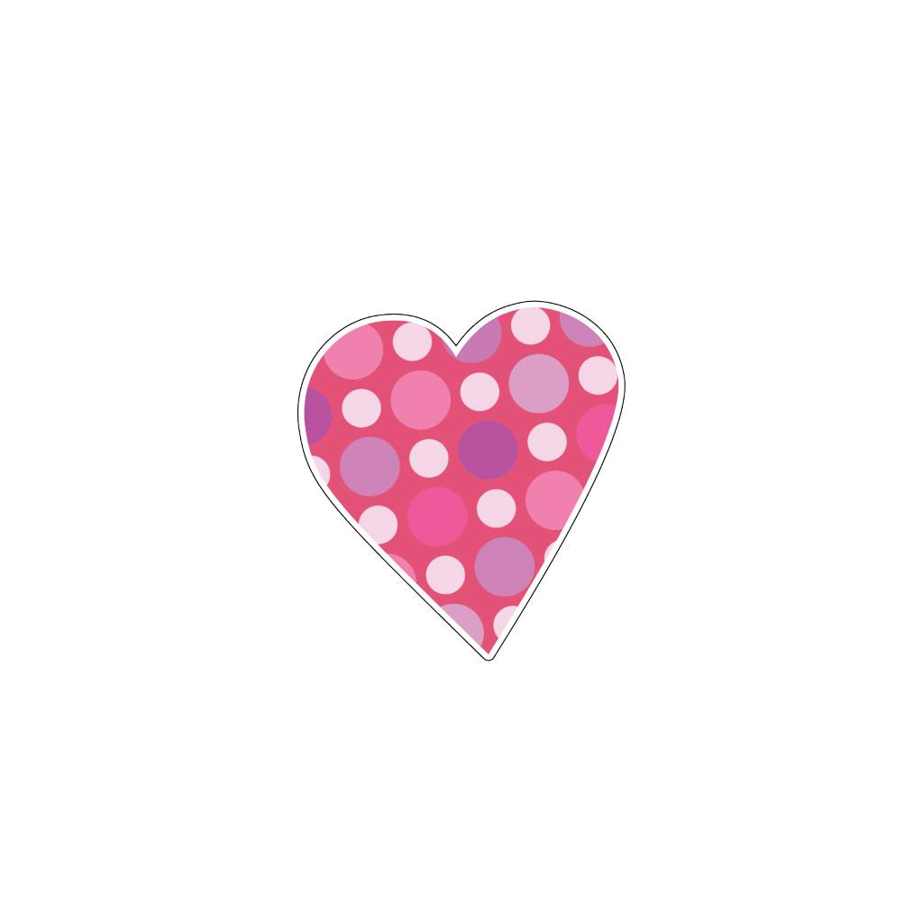 Valentine's day Heart Pink 10 Stickers