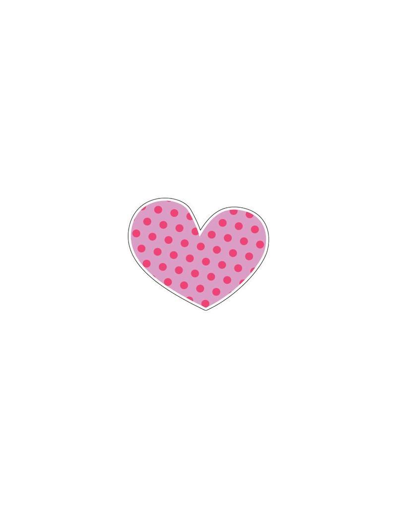 Autocollant Saint-Valentin cœur rose 9