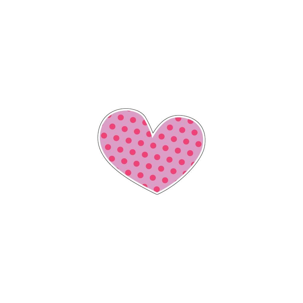 Valentine's day Heart Pink 9 Stickers