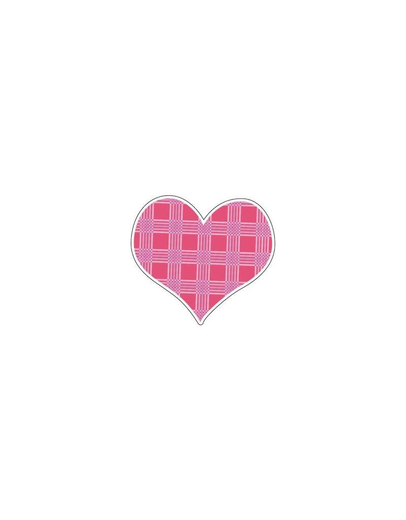 Autocollant Saint-Valentin cœur rose 8