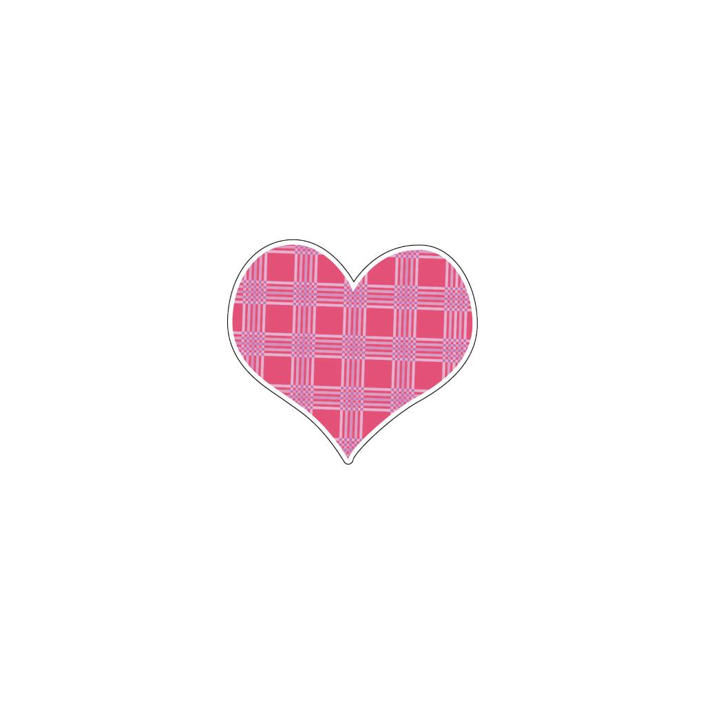 Valentine's day Heart Pink 8 Stickers