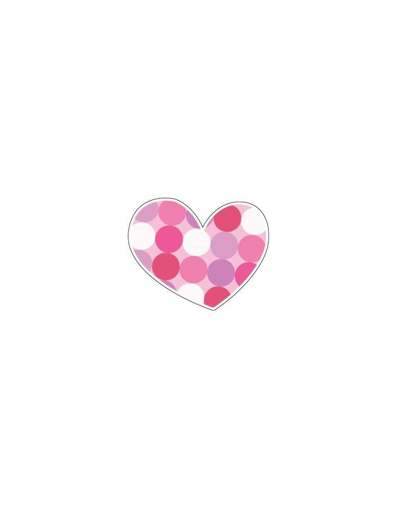 Valentine's day Heart Pink 7 Stickers
