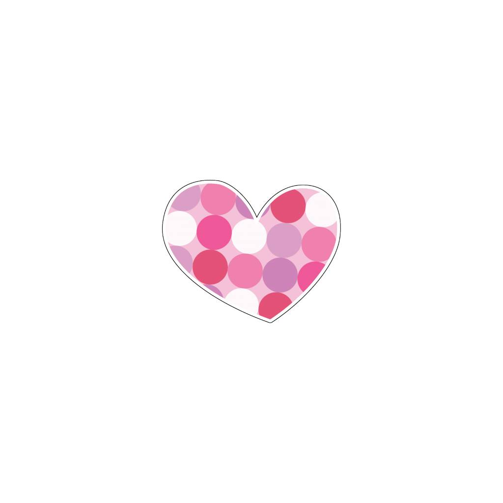 Autocollant Saint-Valentin cœur rose 7