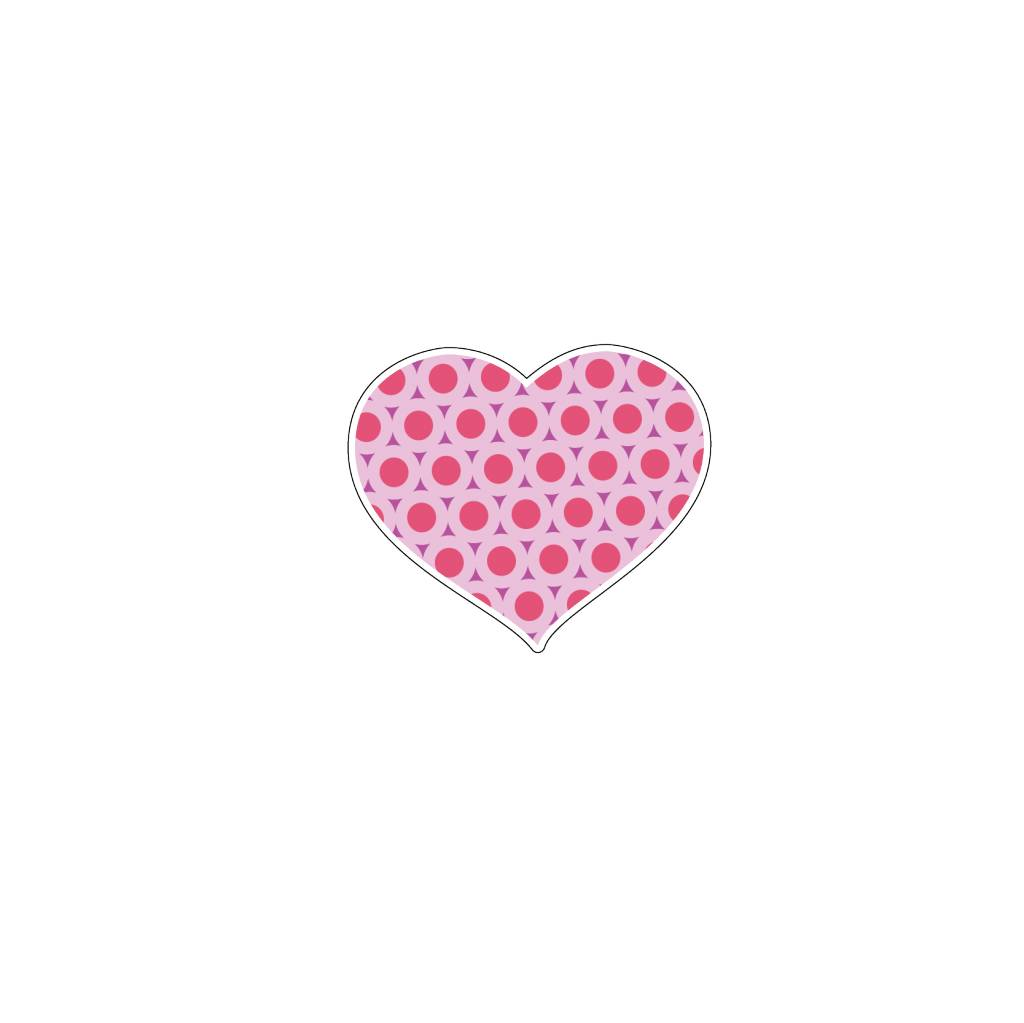 Valentine's day Heart Pink 6 Stickers